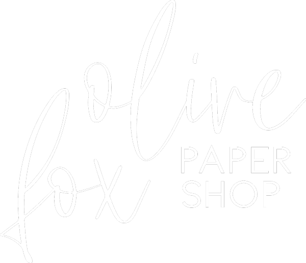 Olive Fox Paper Shop White Logo
